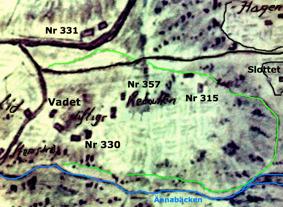 Karta 1801. Avfotograferad av Kent Friman hos Carl Arvid Tell, Backa gård, 2014. Klicka på kartan för större bild!