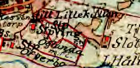 Karta 1877. Lantmäteriet Historiska Kartor. Stp Ving (Nr 315) är markerat med rött. Klicka på kartan för större bild!
