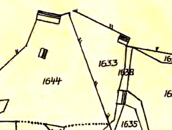 Karta 1844 inför Laga skfitet. Lantmäteriet Historiska Kartor. Delar av soldattorpen Nr 357 och Nr 315.