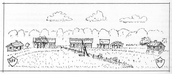 Teckning Nils Lann, införd i Varnhemsbygden 1997. Klicka på bilden för att se den större!