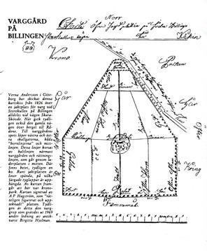 Klicka på skissen för att se den större! Skiss av Lantjägmästaren Hagström 1826.