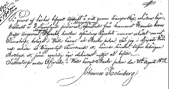 Breven i original lånades av Verna Andersson från Sören Holmbergs mamma, Anna Stina Pettersson i Skövde och återlämnades dit.