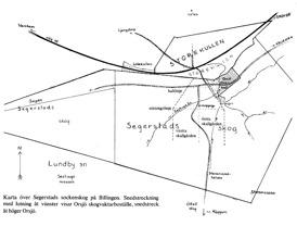 Klicka på kartan för att se den större! Ritad av Gerd Silfversparre, Storekullen i Billingebygden 1983.