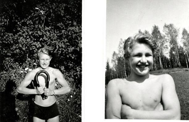 Bilder från bröderna Lundbergs familjealbum, Ulfstorp, 2014.