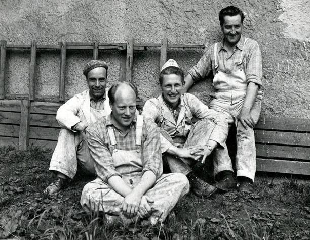 Bild från bröderna Lundbergs familjealbum, Ulfstorp, 2014.