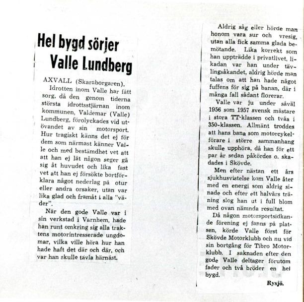 Urklipp från bröderna Lundbergs familjealbum, Ulfstorp, 2014