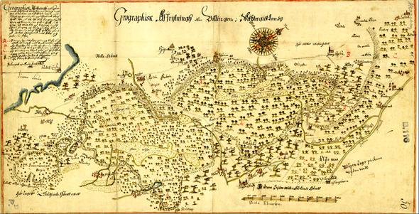 Klicka på bilden för att se större karta! (Lantmäteristyrelsens Arkiv - via Riksarkivet)