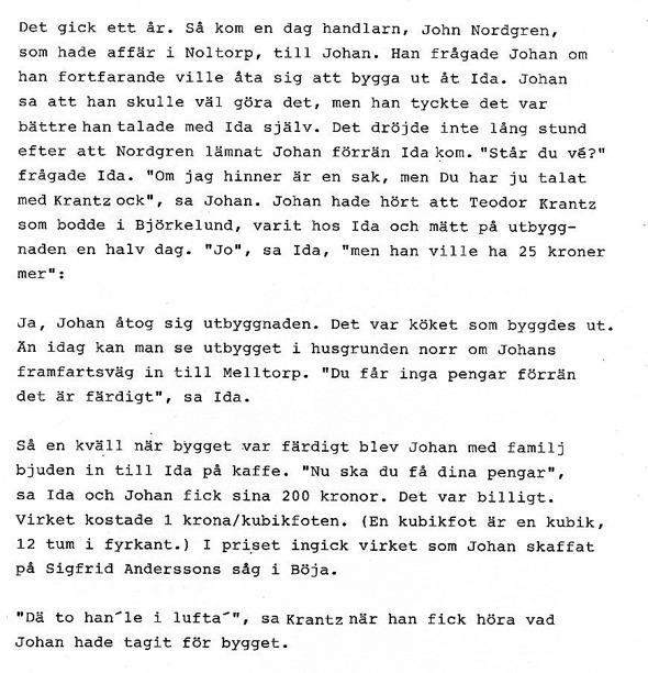 Berättat för Verna Anderssson, Ljungstorp av Johan Apell i Varnhemsbygden 1989.