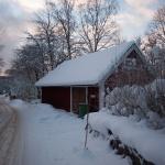 ladugården i vinterskrud norr ifrån