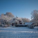 Västerifrån i vinterskrud