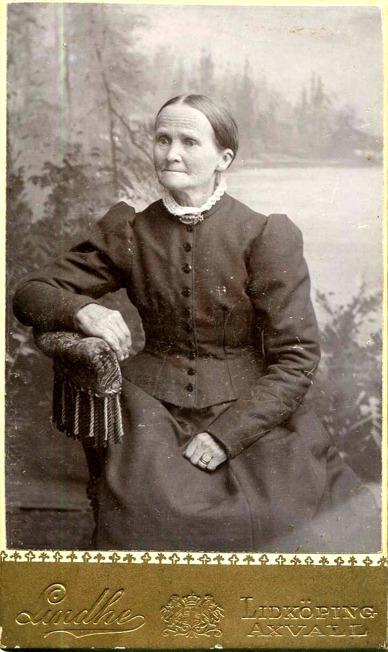 Johanna Ullberg foto ur Astrid Åstrands album, via Jaen Friman, Ljungstorp, 2015 - hans morfars farmor!
