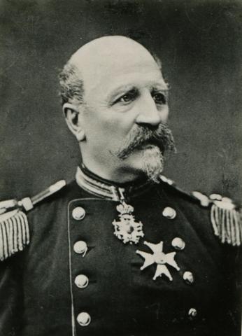 Kaptenen senare Översten Alexander Johan Wästfelt född 1811 död 1892.