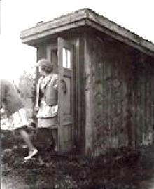 Missionshusets torrdass fick användas också av besökare till Missionhuset.