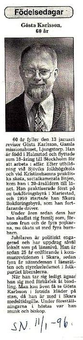 Urklipp från Verna Anderssons samling, Ljungstorp