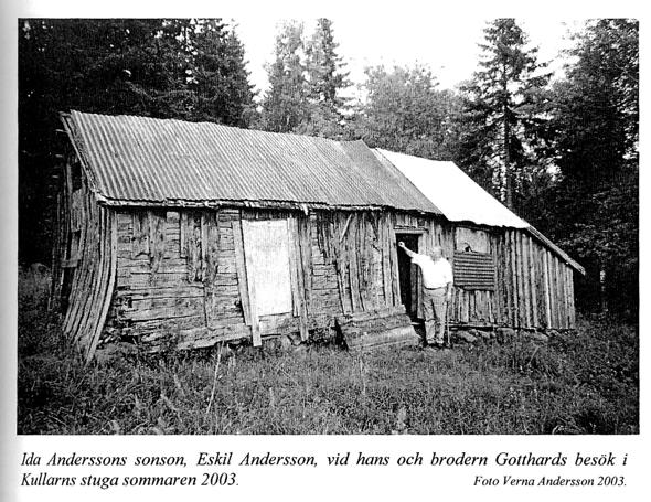 """Eskil Andersson Storekullen- """"Kullarns stuga"""", där Ida bodde en tid tillsammans med Albin - kallad 'Mars'"""