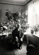 Per August Pettersson, Hålltorp, född 21/9 1837 - död 15/1 1936 (99 år gammal). Här troligen 90-årsgratula-tioner.