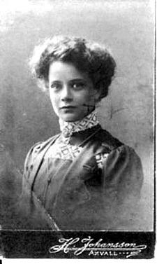 Elvira som ung - bild från Marianne Ledhagen