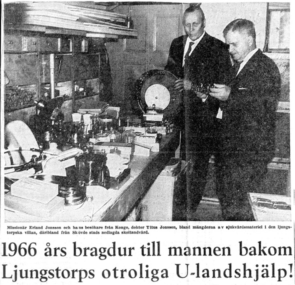 SN 1966. Urklipp från Verna Anderssons samling, Ljungstorp, 2016