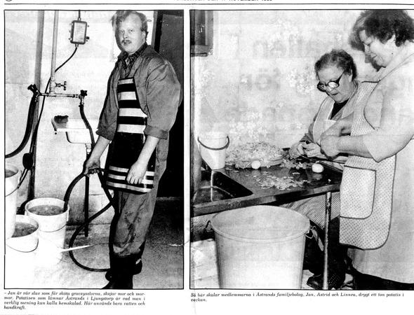 17 November 1983. Klicka på bilderna för att se dem större! Urklipp från Varna Anderssons samling, Ljungstorp, 2016