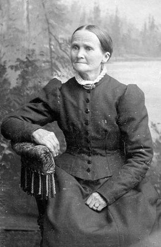 Johanna Ullberg - syster till Maria Snäll. Bild från Jaen Frimans samling, Ljungstorp, 2015