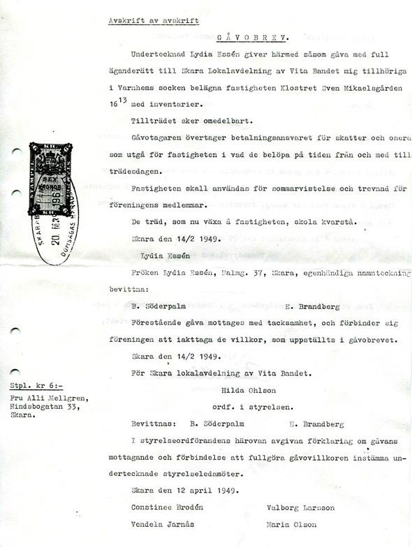 Dokument ur Roland Holms samling, Björkelund, Ljungstorp, 2016
