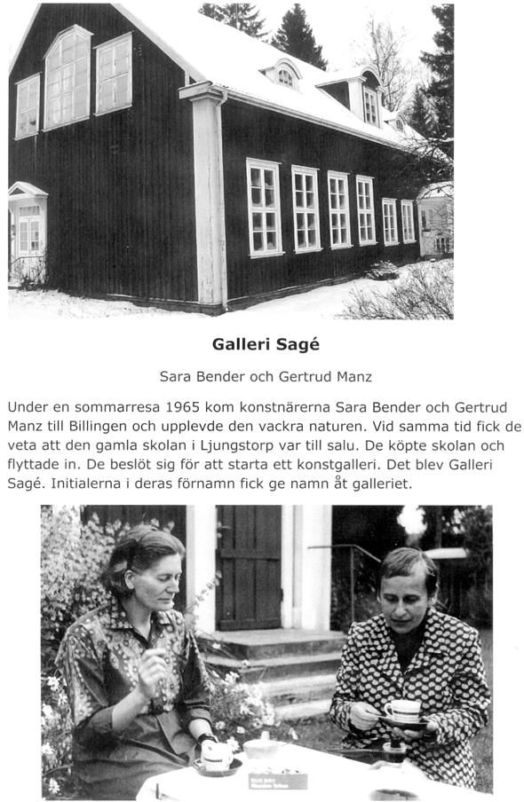 Gertrud Manz och Sara Bender - Text Eva Bozovic