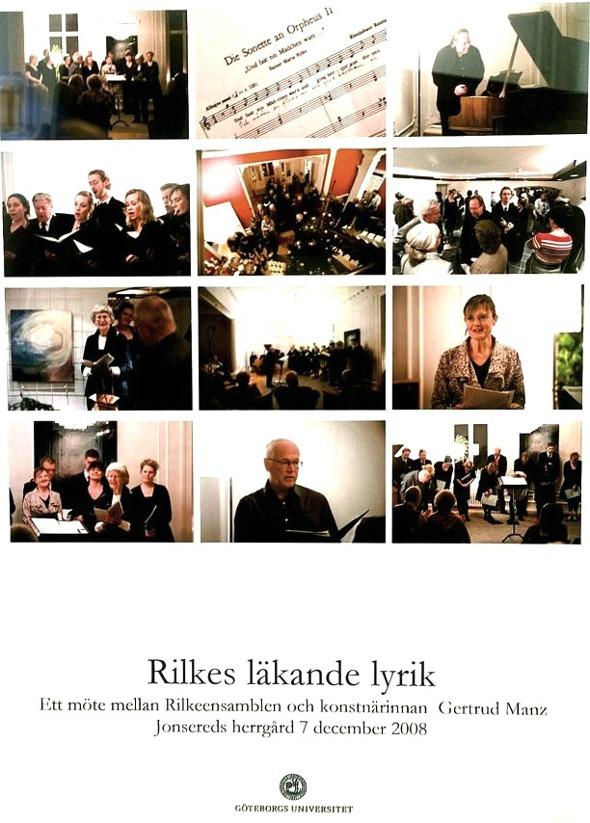 Fotosammanställning från Rilkeensemblen 2008 tillhandahållen av Getrud Manz 2016