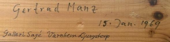 Samma ram; Getrud Manz 1969 15/1