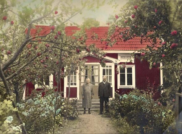 Björkelund 1940-tal - foto från dotterdottern; Anna-Britta Davidsson, Skövde, 2016. Klicka gärna på bilden för att se den större!
