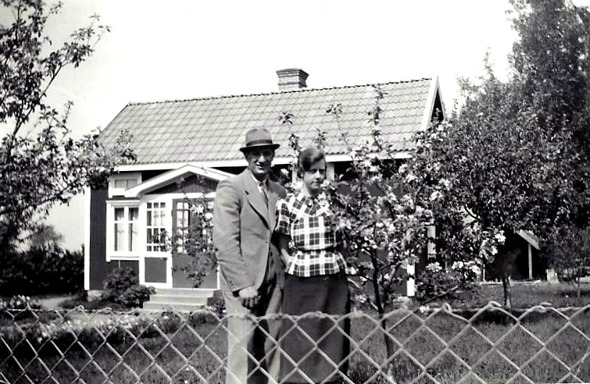 Yngve Andersson och Ester Krantz 1930-tal - foto från dottern; Anna-Britta Davidsson, Skövde, 2016