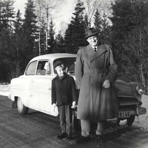 Yngve Andersson med sonen Lars