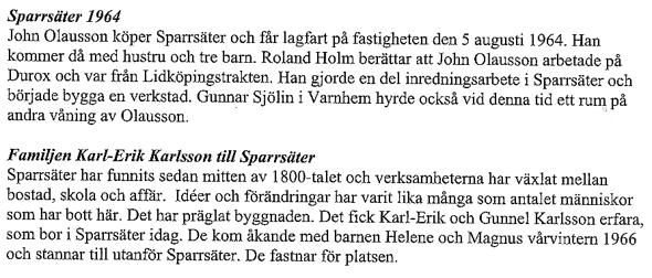 Text ur Varnhemsbygden 2011 - artikel av Verna Andersson & Arne Sträng