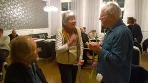 Gertrud möter Gunnar Eriksson och skådespelaren Martin Berggren