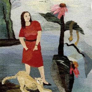Kvinna med orm, 2014, 72 x 92 cm