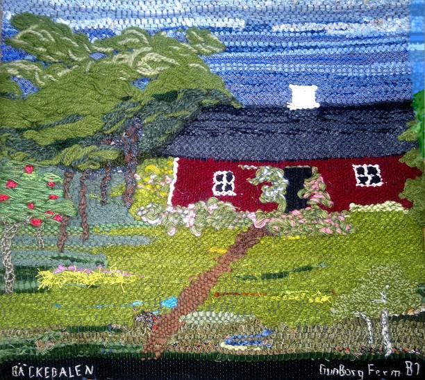 För bättre upplevelse av bildens digitala visning av textilverket har övre högra sidan utanför textilen synligt retuscherats något (Kent Friman, 2013)
