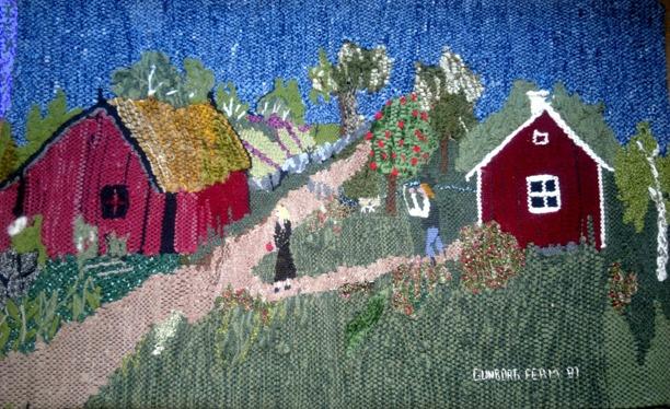 För bättre upplevelse av bildens digitala visning av textilverket har övre vänstra sidan utanför textilen synligt retuscherats något (Kent Friman, 2013)
