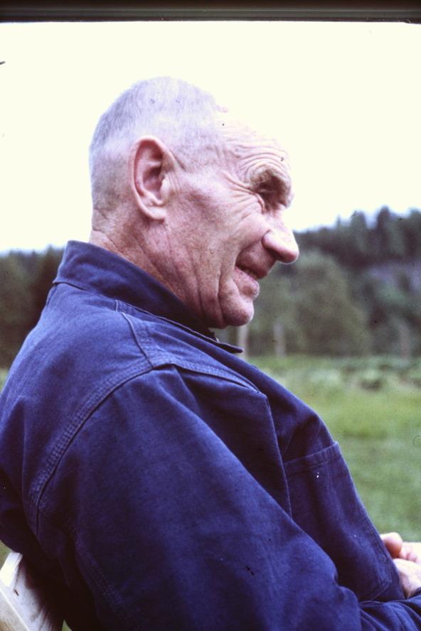 Sigfrid Johansson, 1967. Foto från Makarna Magnussons arkiv, Hagen, 2016