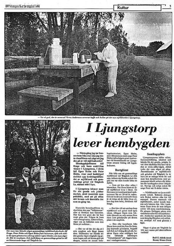 Urklipp från Verna Anderssons samlingar, Ljungstorp, 2017