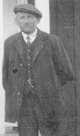 """Albin Gustafsson """"Mars"""" omkring 1930. Kopia av originalfoto hos Ester Andersson, född Krantz, Skövde."""