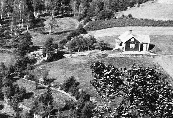 Foto 1929 Magnus Broström (morbror till Roland Holm, Ljungstorp).  Bild från Verna Andersson och ur Billingen längesen, 2004