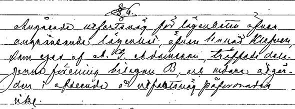 Ur rågångsmätningsprotokoll 1905 avseende Kleven under Svarvarebacken.