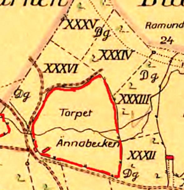 Ännebäcken detalj 1803