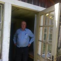 Ägaren 2017 Lennart Kalrsson öppnar 'fina vägen' genom verandan