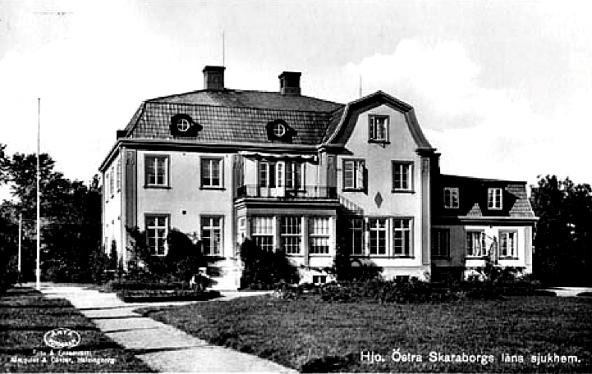 Sjöryds sjukhem i Hjo - huset är numera rivet (foto från regionarkivet) Mats Green, 2017