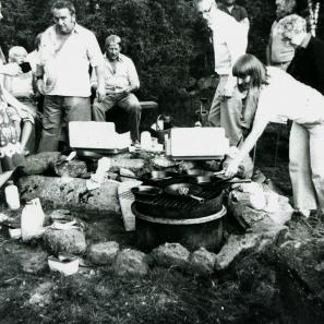 Pannekakefesten 1982, Birgitta, Alf Brage, Kalle Ferm, Arne Sträng Rut Warnemark och Verna Andersson001