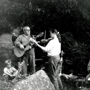 Pannekakefesten 1989 Alf Brage o dottern Eva-Lena och Verna