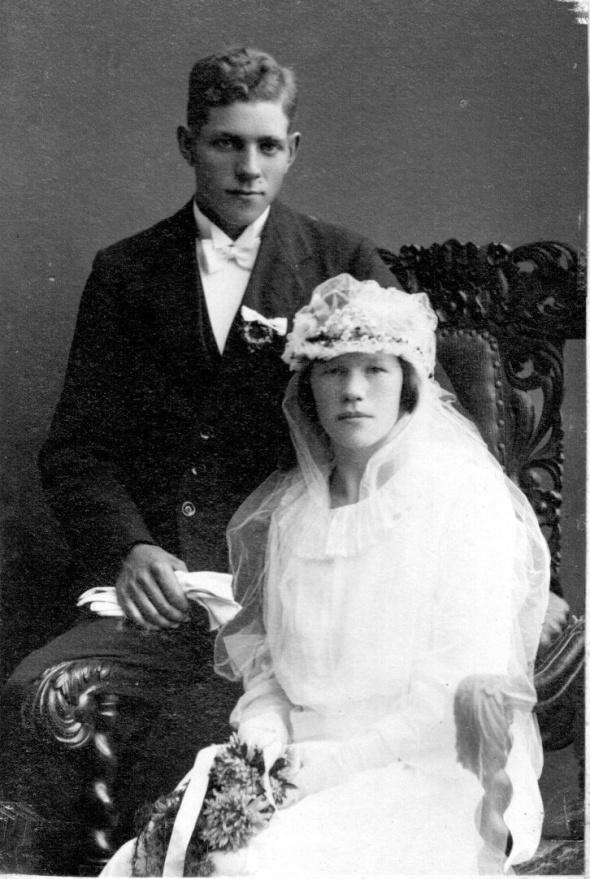 Ernst Andersson och Olga f. Johansson gifta 13/9 1924