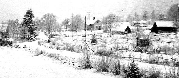 Klefven under 1930-tal i bakgrunden även Grönelid och även Ännebäcken syns till vänster i bild