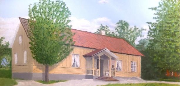 Tavla från Carl Arvid Tell, Backa gård - 2019