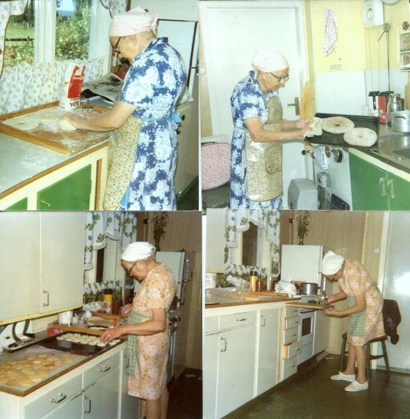 Agnes i köket 1958